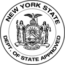 NY Department of State Approved